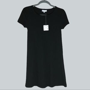 Poof Apparel Black A-Line T-Shirt Casual Dress